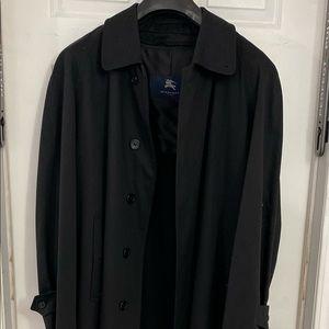 Burberry London Black Cotton Trench Coat - 40R